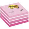 Kostka Post-it® samolepicí, aquarelle růžová, 76 x 76 mm, 450 lístků