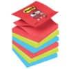 """(2 × +  Nexcare Coldhort Mini 10 × 10 cm v hodnotě 120 Kč ZDARMA) Bločky Post-it® """"Z"""", silně lepící, 76x76 mm, BORA BORA, 6 ks"""