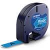 Schriftband LetraTag 12mm Plastik schwarz auf blau