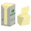 Haftnotizen Post-It Z-Notes Recycling 76x76 gelb/16BL