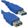 Anschlusskabel Mediarange USB 3.0 A/A 1,8m blau