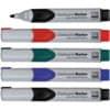 Sada popisovačů na sklomagnetické tabule, bílé tabule a flipcharty, hrot kulatý, stopa 2-3 mm, sada 4 barev