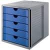 Schubladenbox 5 Laden gr./bl. HAN 14508-16