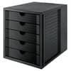 Schubladenbox 5 Laden schwarz HAN 14508-13