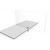Tischteiler Erweiterung 105x80cm +1 Klemme