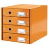 Schubladenbox WOW orange LEITZ 6049-00-44 4 Laden Click&Store