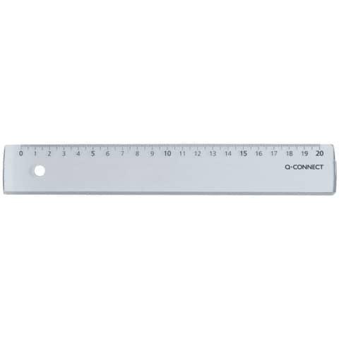 transparent Lineal Kunststoff 20cm lang