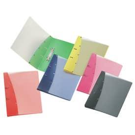 Veloflex® Ringordner Diamond, DIN A4, PP-Vollkunststoff, 2-Rund-Ring-Mechanik 20 mm, farbig sortiert