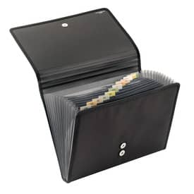 Veloflex® Fächermappe A4 Office - PP, 12 Fächer, schwarz