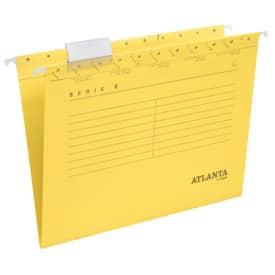 Atlanta by Jalema Hängemappen Serie E - gelb, inkl. Vollsichtreiter und Blankoschildchen