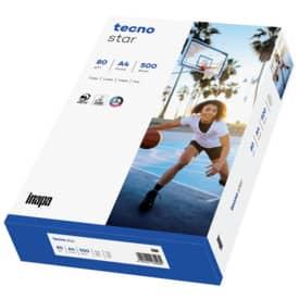 inapa Kopierpapier tecno® star - A4, 80 g/qm, weiß, 500 Blatt