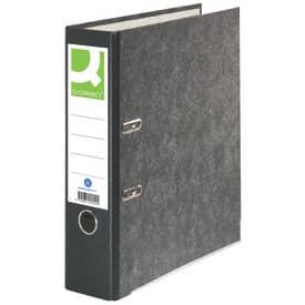 Q-Connect® Wolkenmarmor-Ordner - A4, 80 mm, schwarz