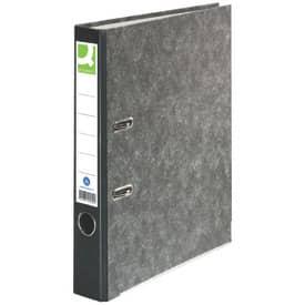 Q-Connect® Wolkenmarmor-Ordner - A4, 50 mm, schwarz