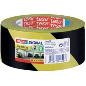 TESA Markierungsklebeband Universal - gelb/schwarz - 66 mm x 50 m