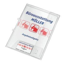 Veloflex® Angebotsmappe Crystal mit Visitenkartenfach, transparent