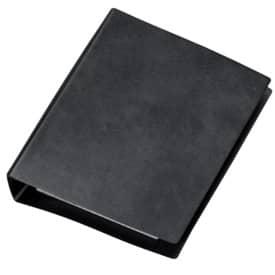 Veloflex® Taschenringbuch Special, schwarz, DIN A6, Ledernarbung, 4-Rund-Ring-Mechanik 13mm