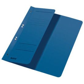 Leitz 3740 Ösenhefter - 1/2 Vorderdeckel, A4, kfm. Heftung, Manilakarton, blau