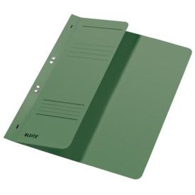 Leitz 3740 Ösenhefter - 1/2 Vorderdeckel, A4, kfm. Heftung, Manilakarton, grün