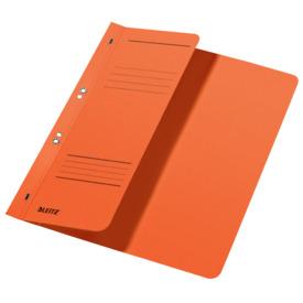Leitz 3740 Ösenhefter - 1/2 Vorderdeckel, A4, kfm. Heftung, Manilakarton, orange