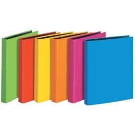 Veloflex® Ringbuch VELOCOLOR® - A5, Karton, 2-D-Ring, Ring-Ø 25 mm, farbig sortiert