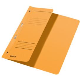 Leitz 3740 Ösenhefter - 1/2 Vorderdeckel, A4, kfm. Heftung, Manilakarton, gelb