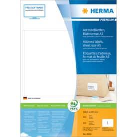 HERMA Adressetiketten Premium - weiß, 148,5x205 mm, Papier, matt, 400 Stück