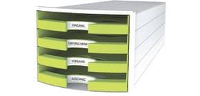 Cassettiera IMPULS HAN 294x368x235 mm con 4 cassetti aperti in polistirolo limone - 1013-50 Immagine del prodotto