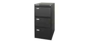 Classificatore per cartelle sospese KUBO 3 cassetti 46x62x101 cm nero 4103 Immagine del prodotto