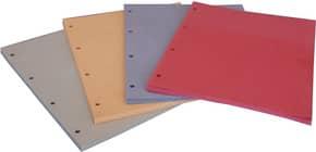Divisori in cartoncino Manilla con fori EURO-CART 23x30 cm rosso conf. da 100 pezzi - DM04RO C/FORI Immagine del prodotto