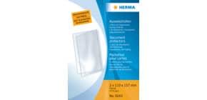 Ausweisklapphülle 2x 110x157 mm transp. HERMA 5043 f. Dokumente Format A6 25 St. Produktbild