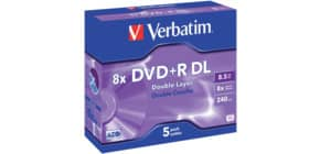 DVD+R DL im Jewelcase 5er Pack inkl. URA Produktbild