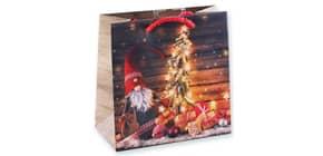 Weihn.Geschenktragetasche Wichtel 06-0364 16x16x7,5cm Produktbild