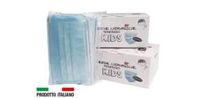 Mascherine chirurgiche monouso per bambini tipo II - Certificazione CE - colore celeste - Conf. 30 pezzi - 33233 Immagine del prodotto