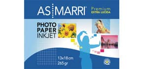 """Carta fotografica AS/Marri """"Premium"""" per stampanti inkjet finitura lucida A5 265 g/m² Conf. 20 pezzi - 9175 Immagine del prodotto"""