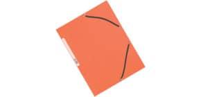 Cartellina a 3 lembi con elastico Q-Connect 24,3x32 cm cartoncino manilla 375 g/m² arancio - KF02170 Immagine del prodotto