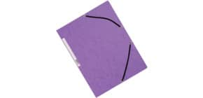 Cartellina a 3 lembi con elastico Q-Connect 24,3x32 cm cartoncino manilla 375 g/m² viola - KF02171 Immagine del prodotto