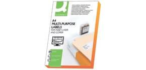 Universaletiketten 210x297 weiß 200 Blatt Q-CONNECT KF15568 Produktbild
