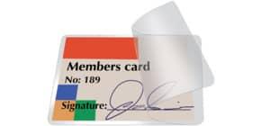 Pouches per plastificazione a freddo Q-Connect per carte d'identità f.to 8.6x5.6 cm Conf. 10 pezzi - KF27056 Immagine del prodotto