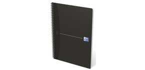 Quaderno spiralato OXFORD Office Essentials Maxi A4 nero quadretti 5 mm 100100759 Immagine del prodotto