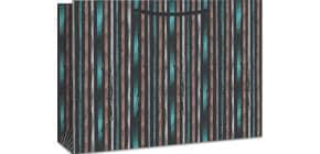 Geschenktragetasche Streifen 06-0258 29x38x10cm Produktbild