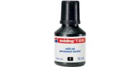 Inchiostro permanente per ricarica edding T 25 nero - 30 ml 4-T25001 Immagine del prodotto