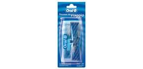 Trousse da viaggio TRAVELPACK1 ORAL B bianco e blu spazzolino + 2 dentifrici da 15 ml - B28 Immagine del prodotto