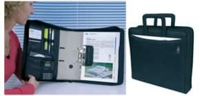 Ordnertasche mit Griff schwarz Produktbild