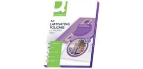 Pouches per plastificatrici Q-Connect 2x125 µm finitura opaca A4 Conf. 100 pezzi - KF24055 Immagine del prodotto
