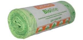 Müllsack 43x50 50 Stück grün 20 Liter BIOLINE Ecovio 06028 Produktbild