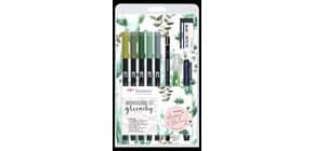 Dual Brush Pen Watercoloring Greenery TOMBOW TOWCS-GR Produktbild