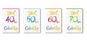 Geburtstagskarte Zahl  sortiert 52-5699   Bild Produktbild