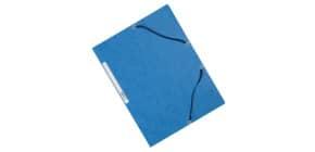 Cartellina a 3 lembi con elastico Q-Connect 24,3x32 cm cartoncino manilla 375 g/m² blu - KF02167 Immagine del prodotto