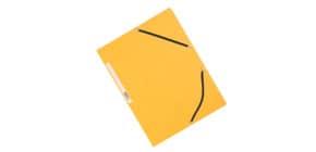 Cartellina a 3 lembi con elastico Q-Connect 24,3x32 cm cartoncino manilla 375 g/m² giallo - KF02166 Immagine del prodotto