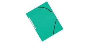 Cartellina a 3 lembi con elastico Q-Connect 24,3x32 cm cartoncino manilla 375 g/m² verde - KF02168 Immagine del prodotto